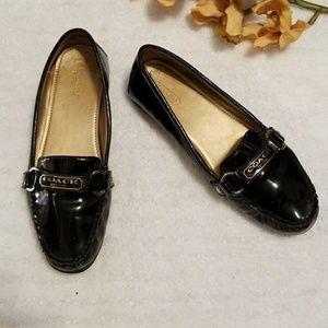 Coach Faye patent leather flats sz 8.5