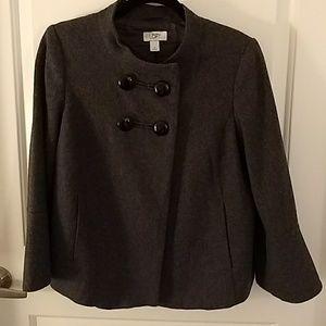 Grey Wool Bell Sleeve Jacket sz Small