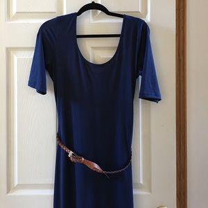 Maxi dress navy blue