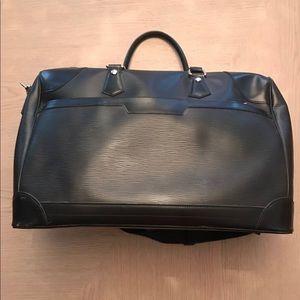 black Epi leather travel bag
