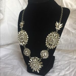 Crystal and silver statement necklace