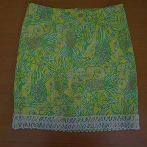 Lilly Pulitzer skirt size 0 EUC green tiger