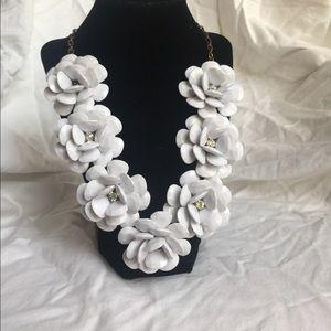 Large flower statement necklace