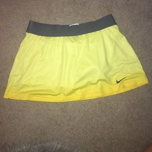 Yellow Nike Tennis Skirt