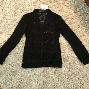 Love Stitch Lace Long-sleeve Top