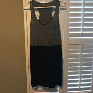 Guess Grey & Black Dress Size L