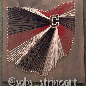 Cleveland Indians string art