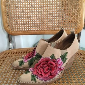 Jeffrey Campbell floral booties
