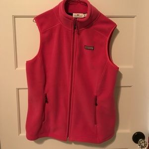 Vineyard Vines Westerly Pink Vest Fleece Small NWT