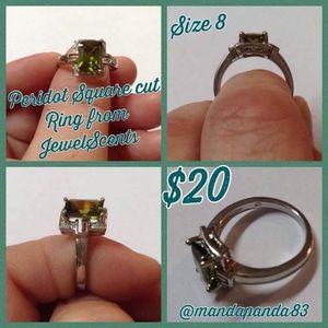 Peridot Square Cut Ring from JewelScent