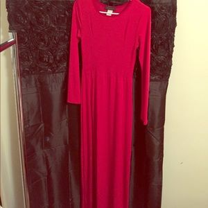 Long Red Gown with Split