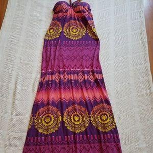 Cute Strapless/Halter Maxi Dress built in Bra