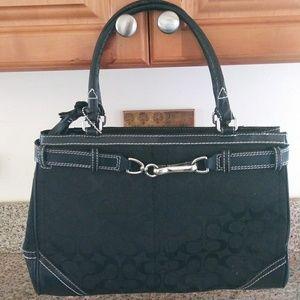 Coach black bag purse