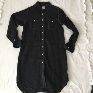 Billy Reid Black 100% Linen Dress