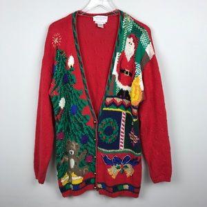 [Casual Corner] Vintage Christmas Sweater Cardigan