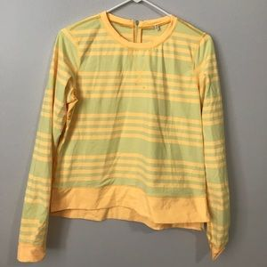 Yellow Striped Lululemon Pullover Size 8