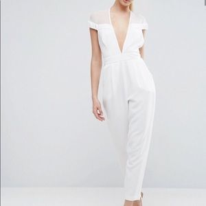 ASOS Jumpsuit with Velvet Tux Plunge Detail 12