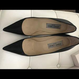 Jimmy Choo heels.  38.5.  Blk  With box