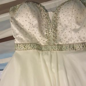 White strapless Sherri Hill Pageant/ Formal Gown