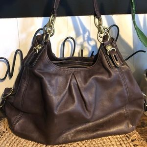 Coach Madison Maggie Brown Leather Purse