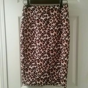 H&M leopard print pencil skirt.