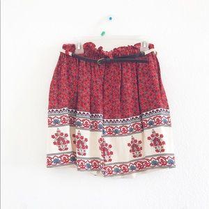 Bohemian Skirt w/Belt