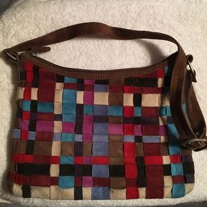 French connection leather purse