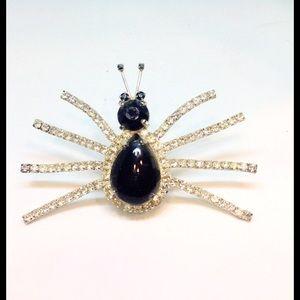 """Vintage SPIDER Designer Brooch BIG 3-1/2"""" X 2-1/4"""""""
