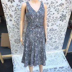 j. Crew Floral Black and Gray Dress Sz 4