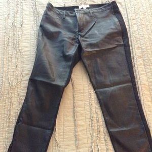 Banana Republic faux leather front leggings