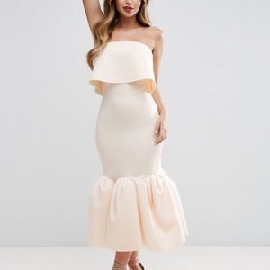 ASOS PREMIUM Extreme Pephem Midi Dress sz 10