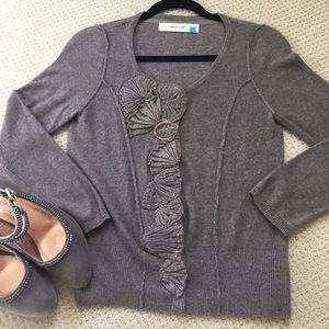 Anthropologie sweater with gold detail