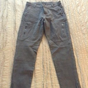 Banana Republic gray cargo pants with zippers