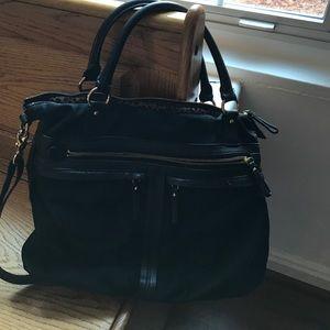 Banana Republic Leather and Nylon Crossbody Bag