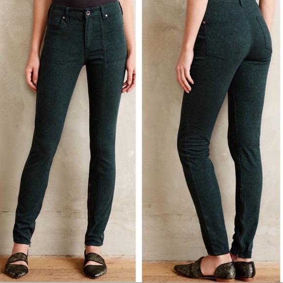 d9c11bb08c5 Anthropologie Denim - Pilcro High Rise Skinny Jacquard Utility Jeans