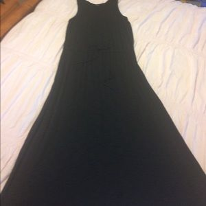 Faded Glory Long Black Sleeveless Dress