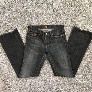 7FAMK black wash boot cut jeans size 27