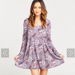 NWT MUMU Sloan mini dress in teatime rose spandy