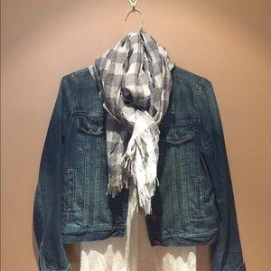 J. Crew wool gingham scarf