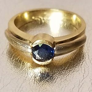 Jewelry - 14k gold & white gold with sapphire, size 6.5