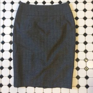 Mossimo pencil skirt in charcoal gray / black