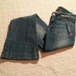 7 For All Man Kind Rare Zipper Pocket Flare Jeans