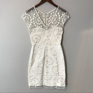 French Connection White Sequin Dress size 4