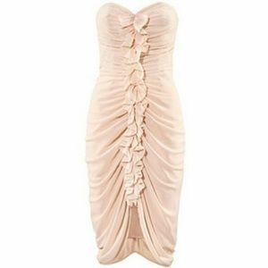 H&M Ruched Ruffle Dress
