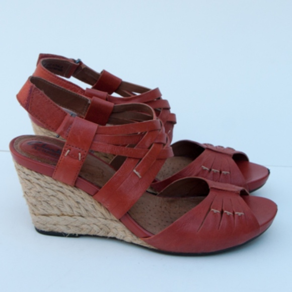 CLARKS Artisan Kyna Smart Wedge Sandals Size 8 M