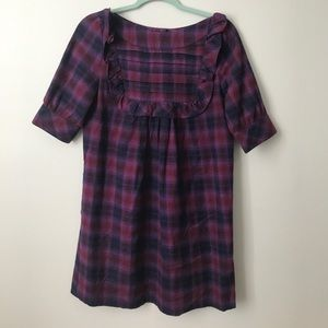 Urban Outfitters Plaid Flannel Bib Front Dress