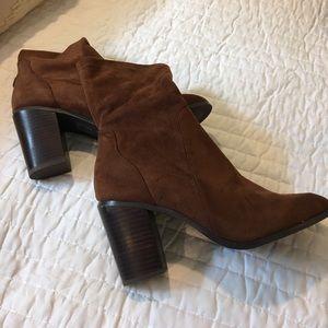 NWOT Brown Suede Booties