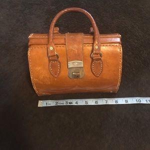 Vintage Brown Leather Medical Bag
