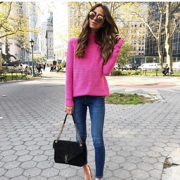 a782bfd1 Zara Hot Pink Sweater