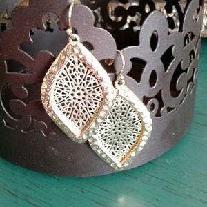 Pear shaped earrings